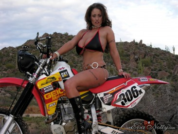 PHOTO | Eva Notty motorcyle ride 1 366x275 - Eva Notty's big titties on a dirt bike ride through the desert may cause quakes