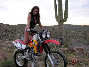 PHOTO | Eva Notty motorcyle ride 4 366x275 - Eva Notty's big titties on a dirt bike ride through the desert may cause quakes