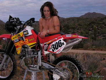 PHOTO | Eva Notty motorcyle ride 6 366x275 - Eva Notty's big titties on a dirt bike ride through the desert may cause quakes