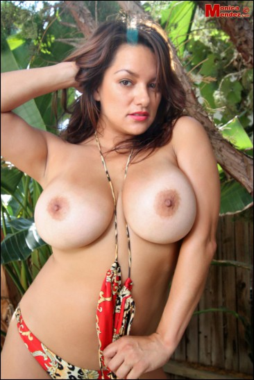 PHOTO | Monica Mendez unleashes her massive jugs 10 366x548 - Monica Mendez unleashes her massive jugs in the jungle, 2 tribesman instantly have a heart attack