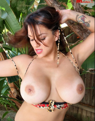 PHOTO | Monica Mendez unleashes her massive jugs 12 366x466 - Monica Mendez unleashes her massive jugs in the jungle, 2 tribesman instantly have a heart attack