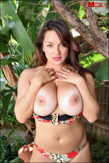 PHOTO | Monica Mendez unleashes her massive jugs 15 366x548 - Monica Mendez unleashes her massive jugs in the jungle, 2 tribesman instantly have a heart attack