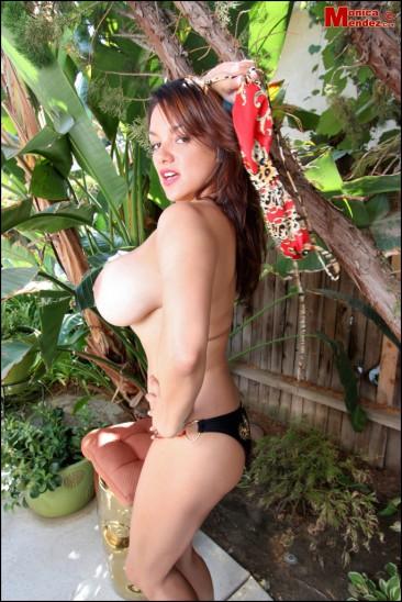 Monica Mendez unleashes her massive jugs (2)