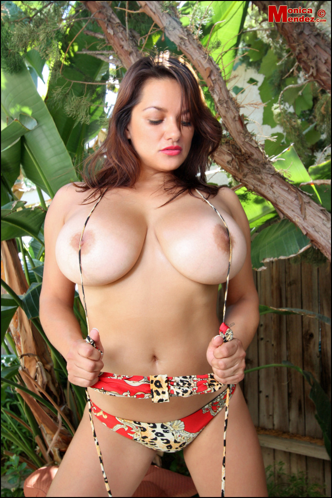 PHOTO | Monica Mendez unleashes her massive jugs 4 - Monica Mendez unleashes her massive jugs in the jungle, 2 tribesman instantly have a heart attack