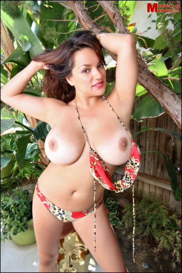 PHOTO | Monica Mendez unleashes her massive jugs 6 366x548 - Monica Mendez unleashes her massive jugs in the jungle, 2 tribesman instantly have a heart attack