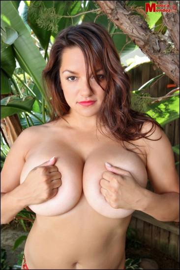 PHOTO | Monica Mendez unleashes her massive jugs 7 366x548 - Monica Mendez unleashes her massive jugs in the jungle, 2 tribesman instantly have a heart attack