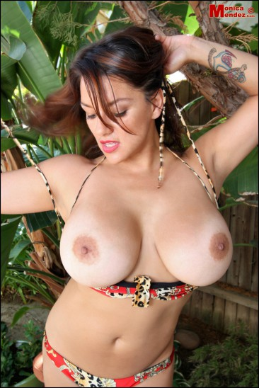 PHOTO | Monica Mendez unleashes her massive jugs 8 366x548 - Monica Mendez unleashes her massive jugs in the jungle, 2 tribesman instantly have a heart attack