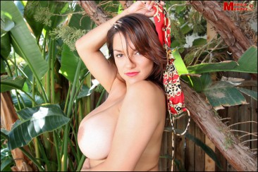 PHOTO | Monica Mendez unleashes her massive jugs 9 366x244 - Monica Mendez unleashes her massive jugs in the jungle, 2 tribesman instantly have a heart attack