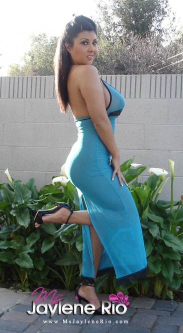 PHOTO | Ms Jaylene Rio dress 1 366x666 - Ms Jaylene Rio's massive jugs can't be contained in this dress