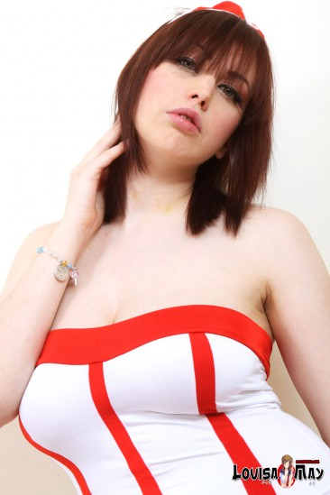 PHOTO | busty nurse louisa may 2 366x549 - Louisa May is one of the bustiest nurses I've ever saw in my life!
