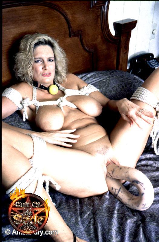 image Stumbling on her dildo and bra