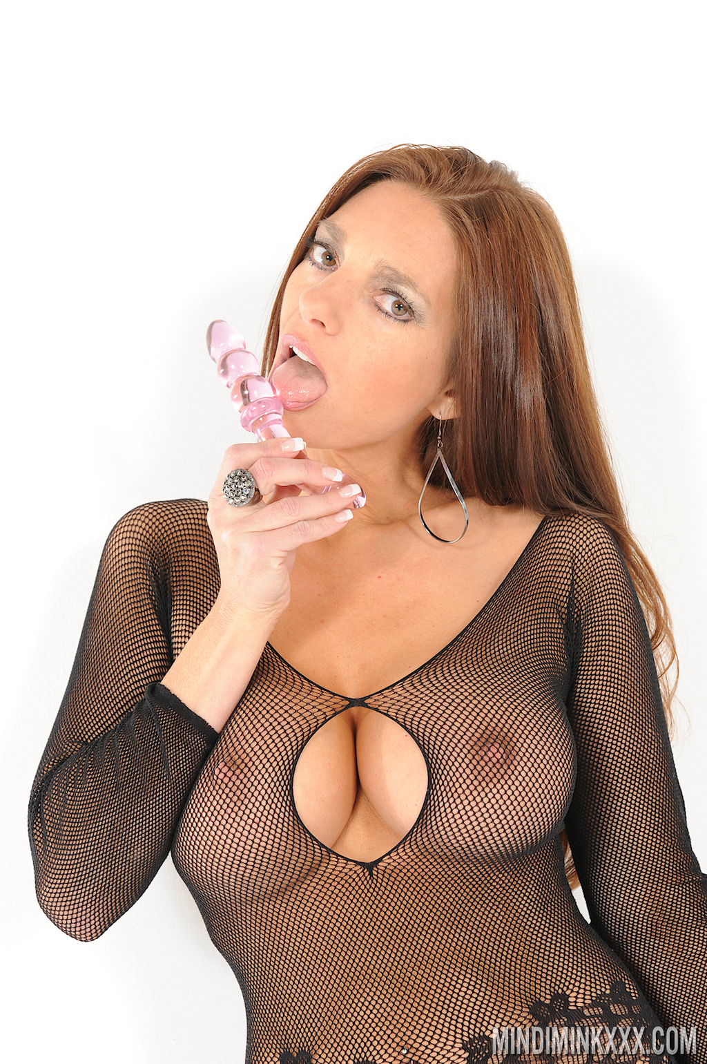 PHOTO | 05 - SULTRY AS FUCK! Mindi Mink is a Straight up Cock Tease, Whips out her Glass Dildo