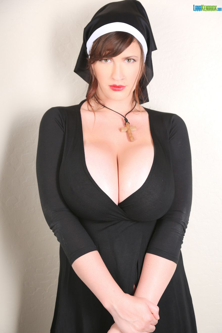 PHOTO | LanaKendrickHalloweenNun1 - BUSTY GODDESS Lana Kendrick dressed up as a Naughty Nun for This Halloween