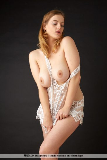 PHOTO | femjoy 14660100 005 366x548 - RIDICULOUSLY HOT REDHEAD! Delina G is One Busty Beauty who will leave you BREATHLESS!