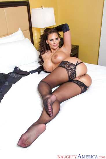 PHOTO | 07 2 366x549 - Curvy Brunette Phoenix Marie In Stockings