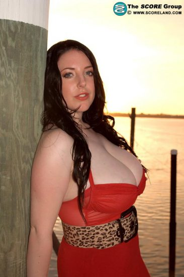 PHOTO | 00 38 366x551 - Angela White In A Red Dress At The Pier