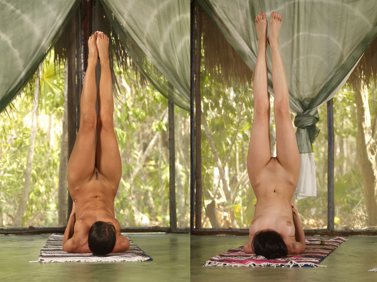 Abby winter nude yoga mobile optimised photo for android iphone