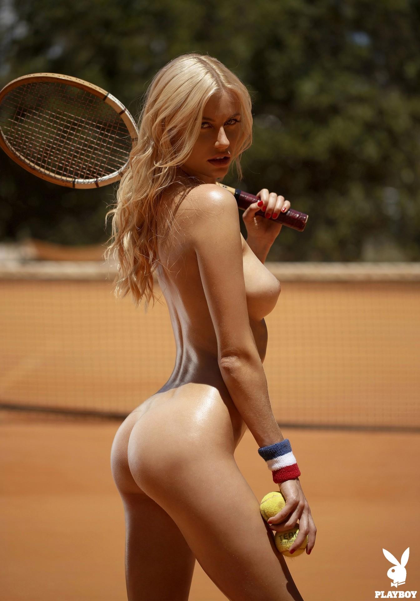 Naked tennis girl photo