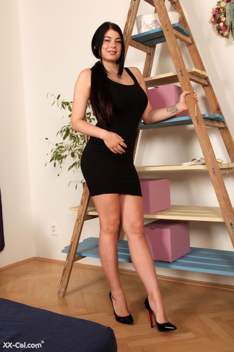 Lucy Li Black Lingerie From XX-Cel | Boobs Photo