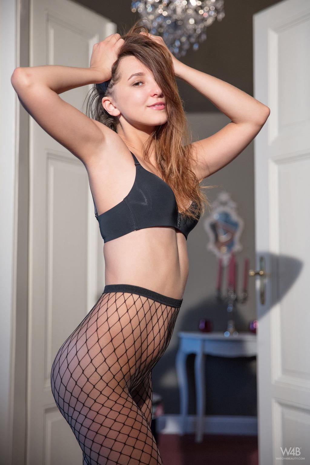 PHOTO | 00 236 - Cute Teen Milana In Sexy Fishnet