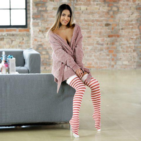 PHOTO | 00 254 480x480 - Roxy Lips Sex in Striped Stockings