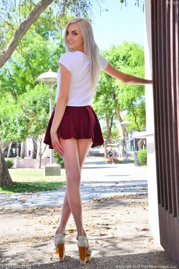 PHOTO | Joslyn 01 366x550 - Joslyn In Sexy Miniskirt