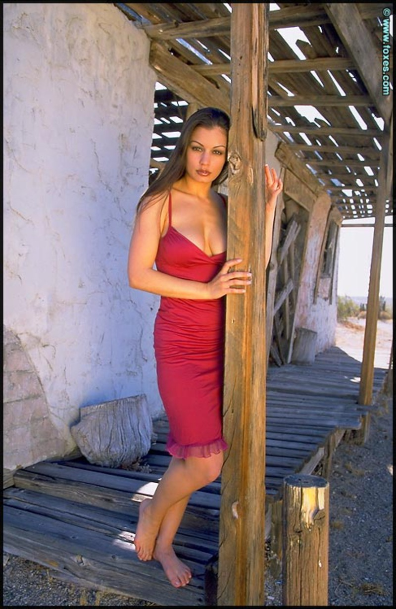 PHOTO | 00 155 - Aria Giovanni Red Dress Off Breasts