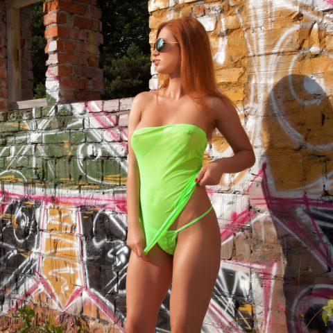 PHOTO | 00 70 480x480 - Justyna Dirty Redhead - Neon Green