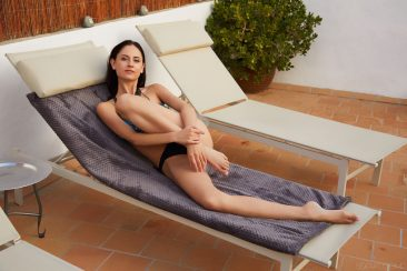 PHOTO | 01 137 366x244 - Gorgeous Italian brunette Sade Mare stretches out
