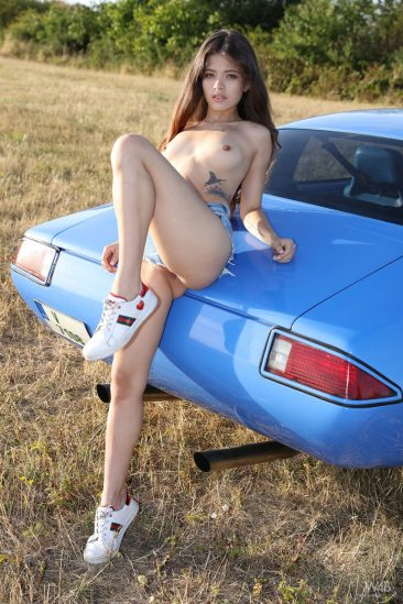 PHOTO | 04 44 366x549 - Nude Irene Rouse Posing By Sport Car